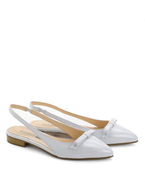 Sandali bassi pelle finish bianco - CHIARINI BOLOGNA