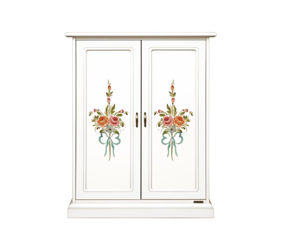 Zapatero decorado, 2 puertas