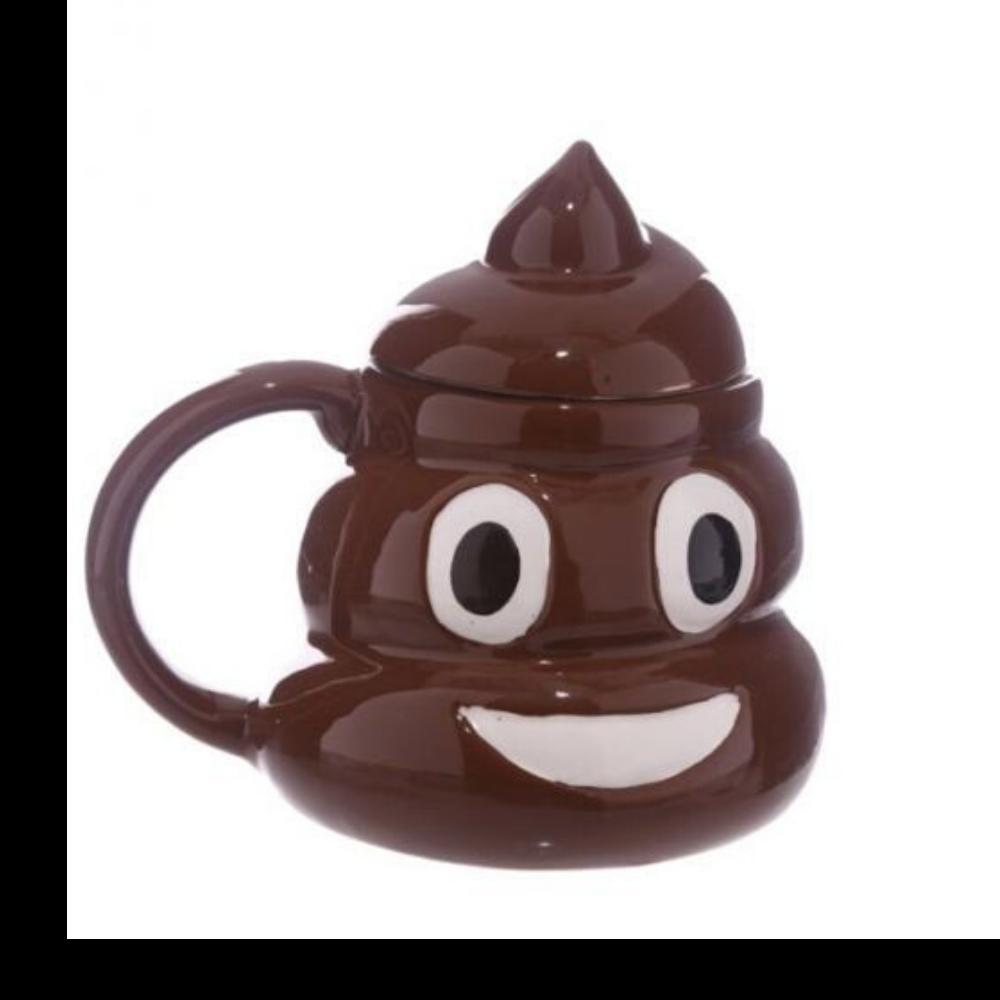 Tazza Mug Ceramica emoticon emoji  Cacca Poop per colazione