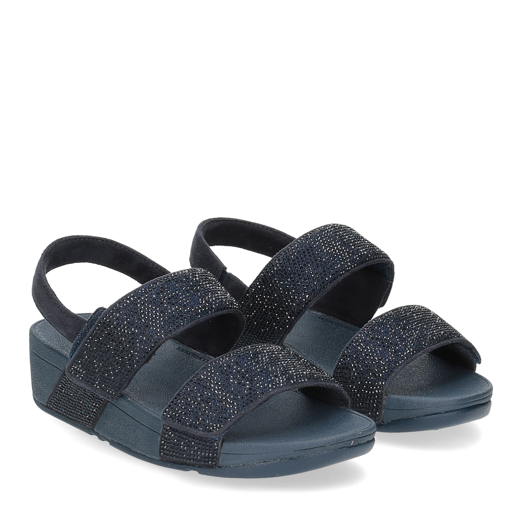 Fitflop Mina Crystal back strap sandals midnight navy