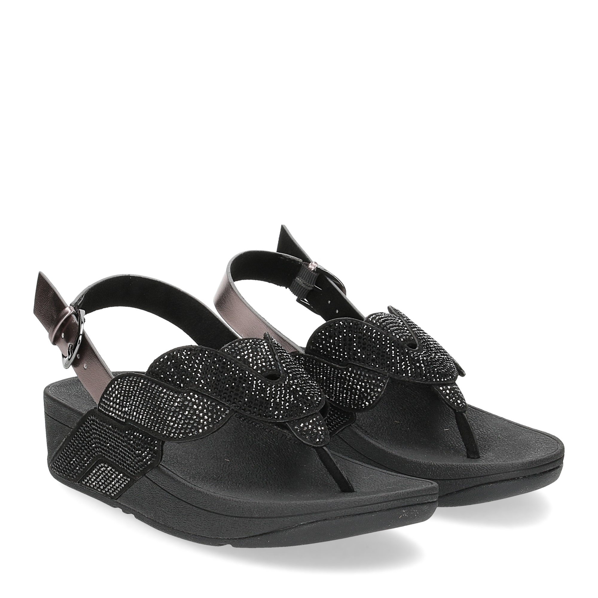Fitflop Paisley Rope back strap sandals black