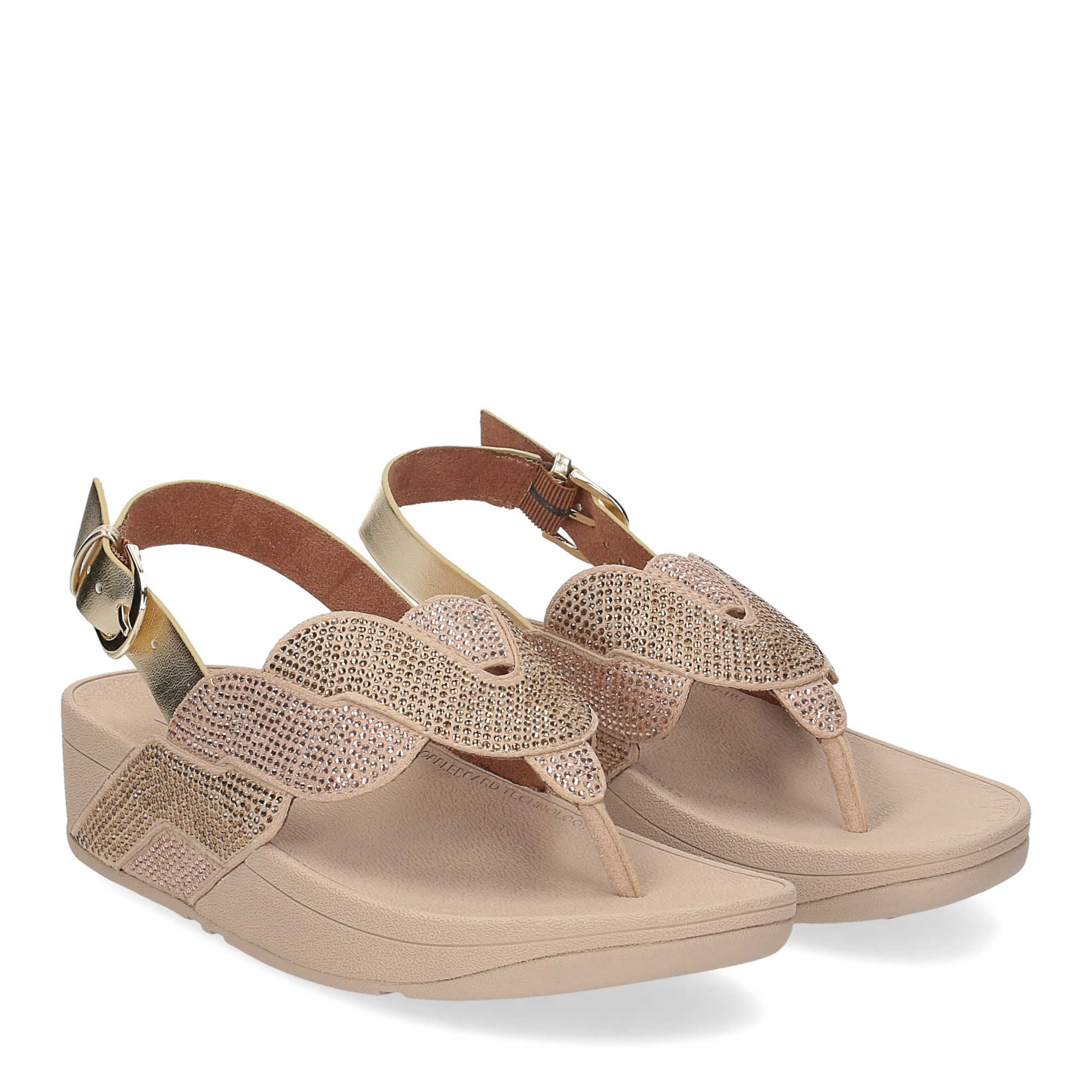Fitflop Paisley Rope back strap sandals platino