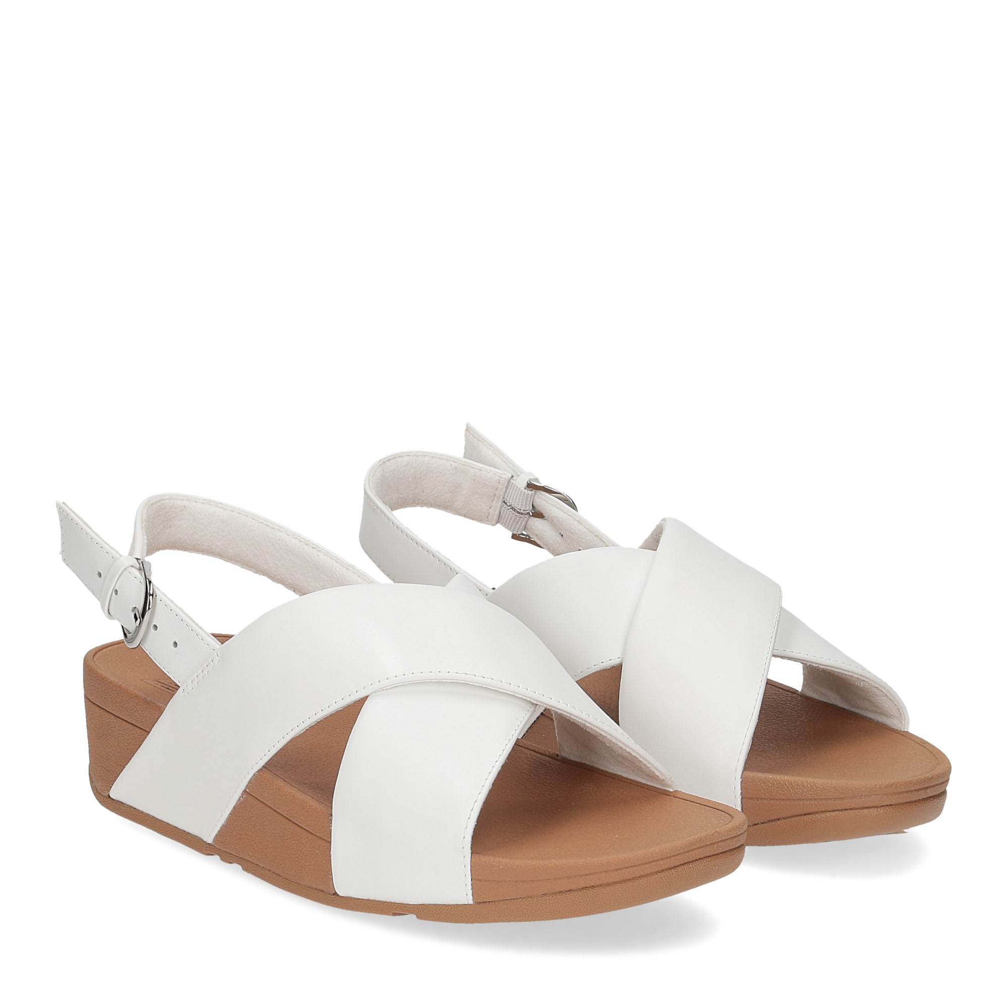 Fitflop Lulu Cross Back strap Sandal urban white