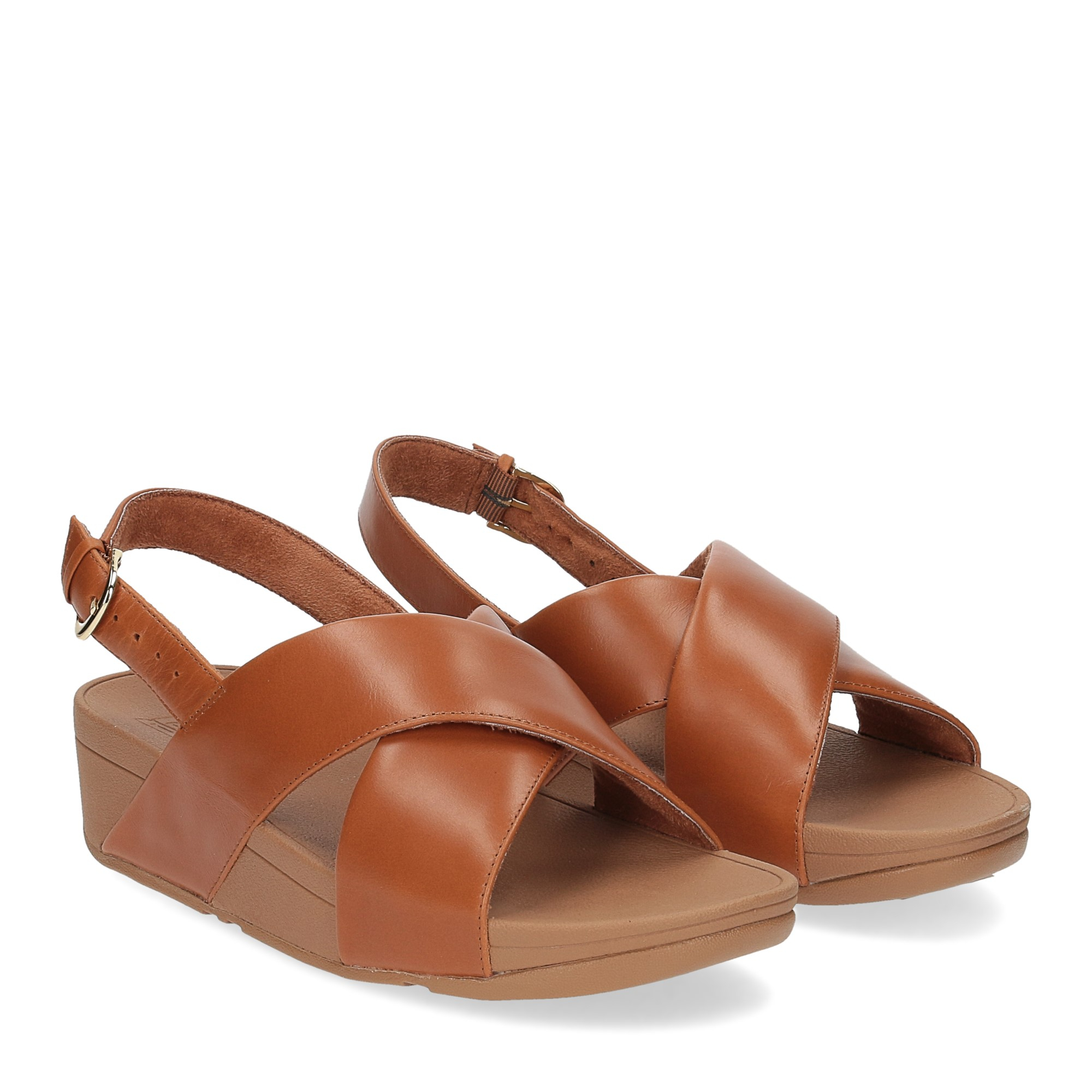 Fitflop Lulu Cross Back strap Sandal light tan