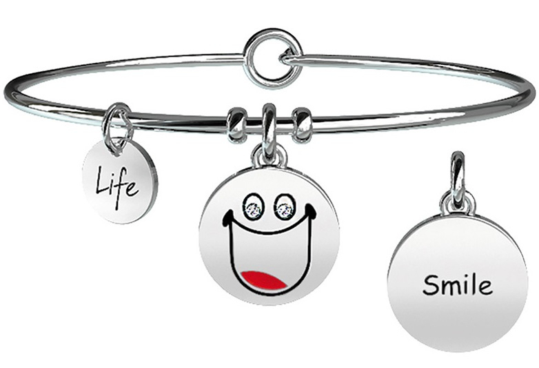 Kidult Bracciale Symbols, Life, SMILE