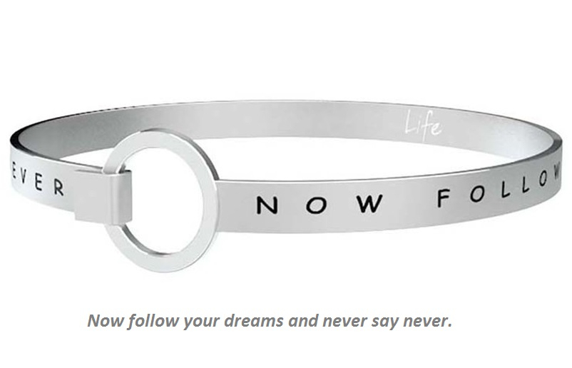 Kidult Bracciale Philosophy, Life, NOW FOLLOW