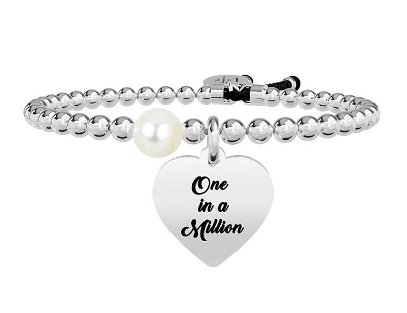 Kidult Bracciale Love, Life, CUORE | ONE IN A MILLION -Boule
