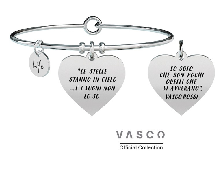 Kidult Bracciale Free Time, Life, Vasco official Collection RIDERE DI TE