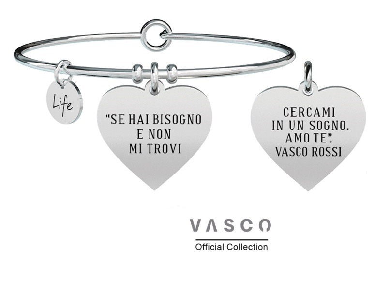 Kidult Bracciale Free Time, Life, Vasco official Collection E...