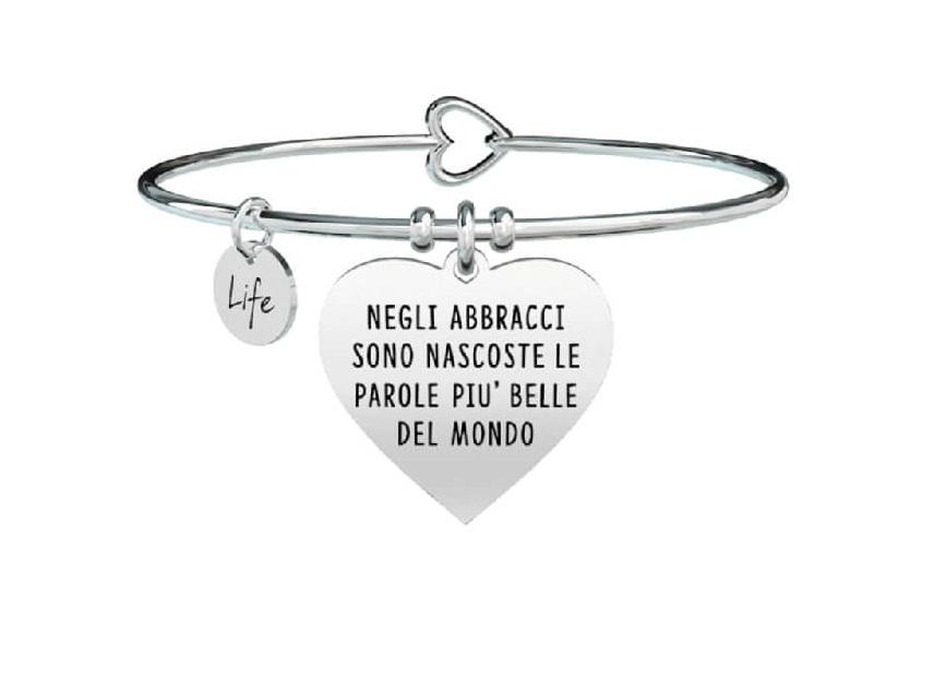 Kidult Bracciale Love, life, CUORE | NEGLI ABBRACCI