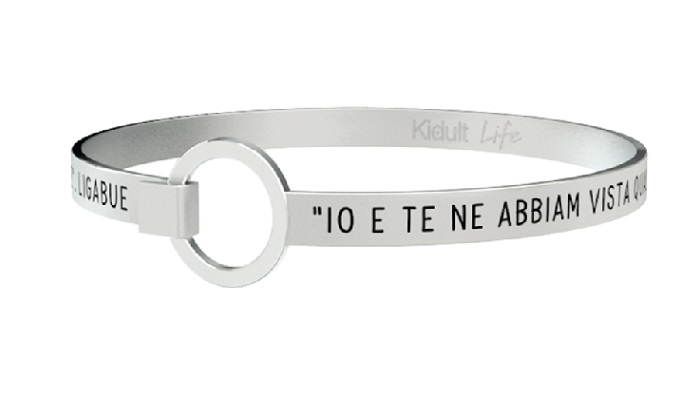 Kidult Bracciale Free Time, Life, Ligabue official Collection L'AMORE CONTA