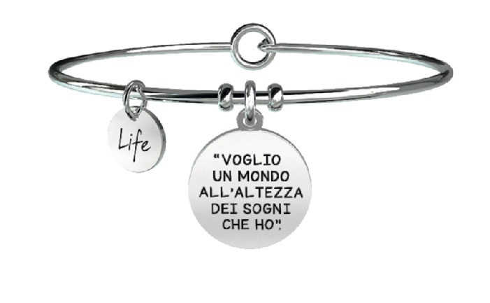 Kidult Bracciale Free Time, Life, Ligabue official Collection (Voglio volere)