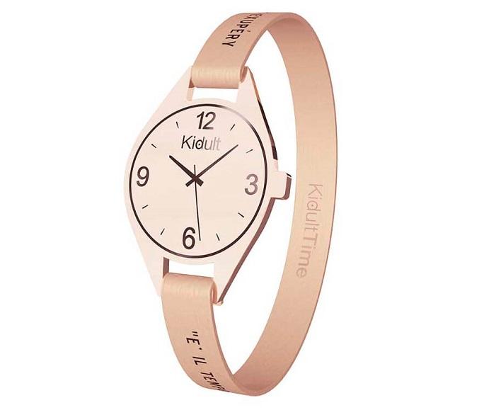 Kidult Bracciale Time Collection, Ovale PVD Rosè Gold, È il tempo che..