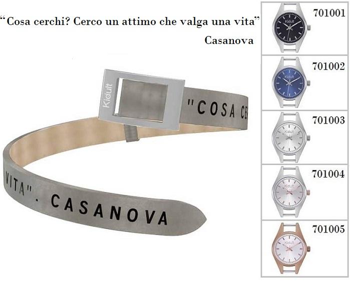 Kidult Cinturino-Bracciale Time Collection, Cosa cerchi?, pelle tortora