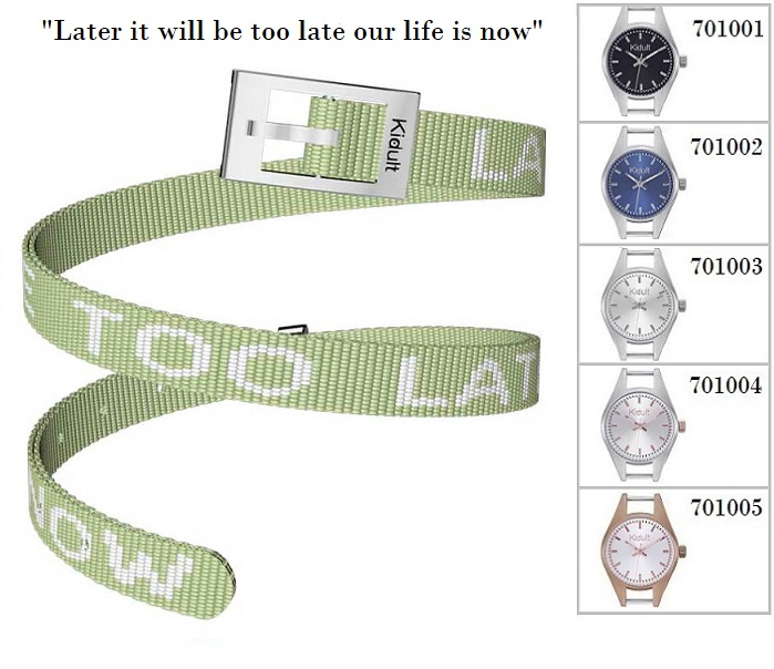 Kidult Cinturino-Bracciale Time Collection, (Later it will be.. tessuto verde)