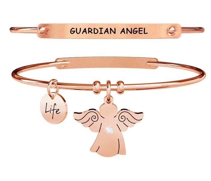 Kidult Bracciale Spirituality, Life, ANGELO | PROTEZIONE - Pvd rosé Gold
