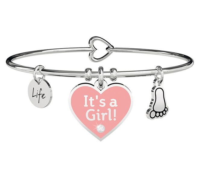 Kidult Bracciale Special Moments, Life, CUORE   IT'S A GIRL
