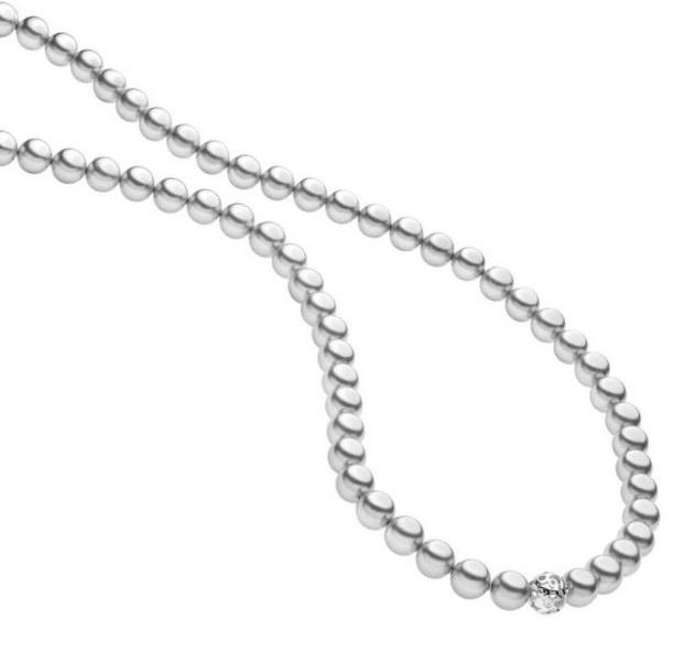 Comete Collana Astri - Shell Pearls Grigie -
