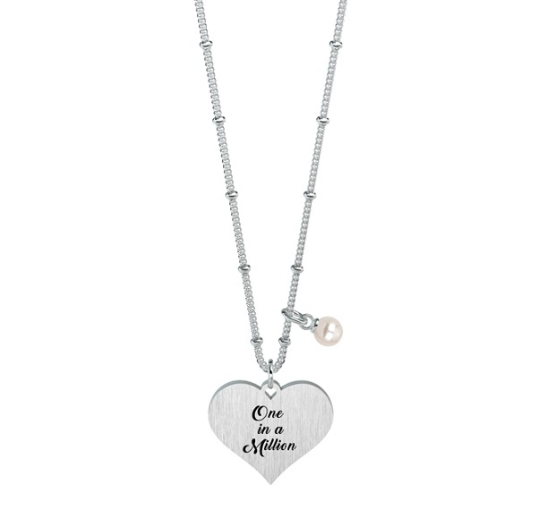 Kidult Collana Love, Life (Cuore   One in a million - Lung. 80 cm)