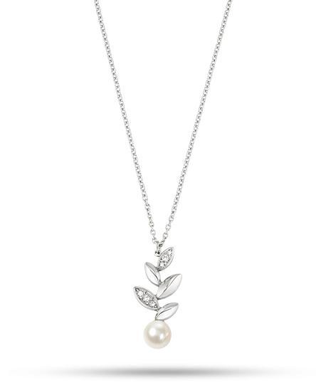 Morellato Collana Gioia (Acciaio, pendente foglie con perla)