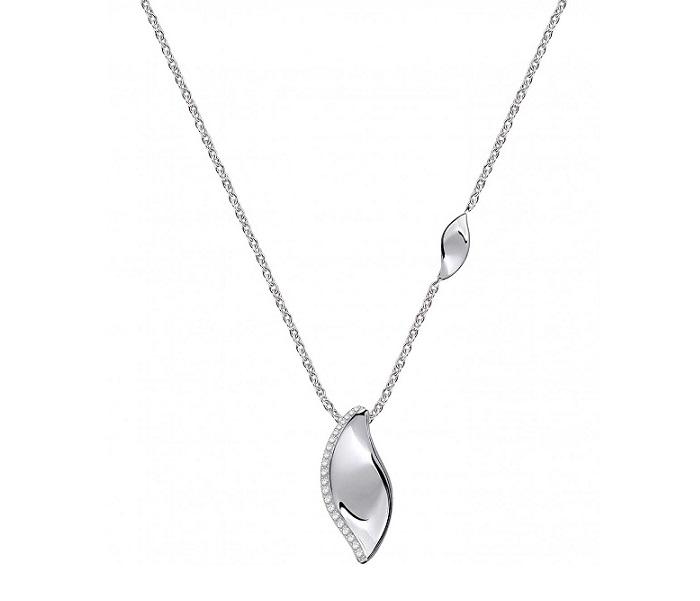 Morellato Collana Foglia (Argento, foglia con Zirconi pendente)