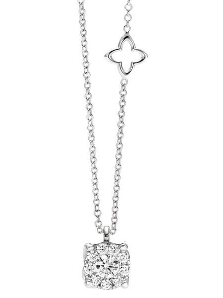 ReCarlo Collana Nodo d'Amore - Diamante ct. 0,10, Diamanti ct. 0,10 -