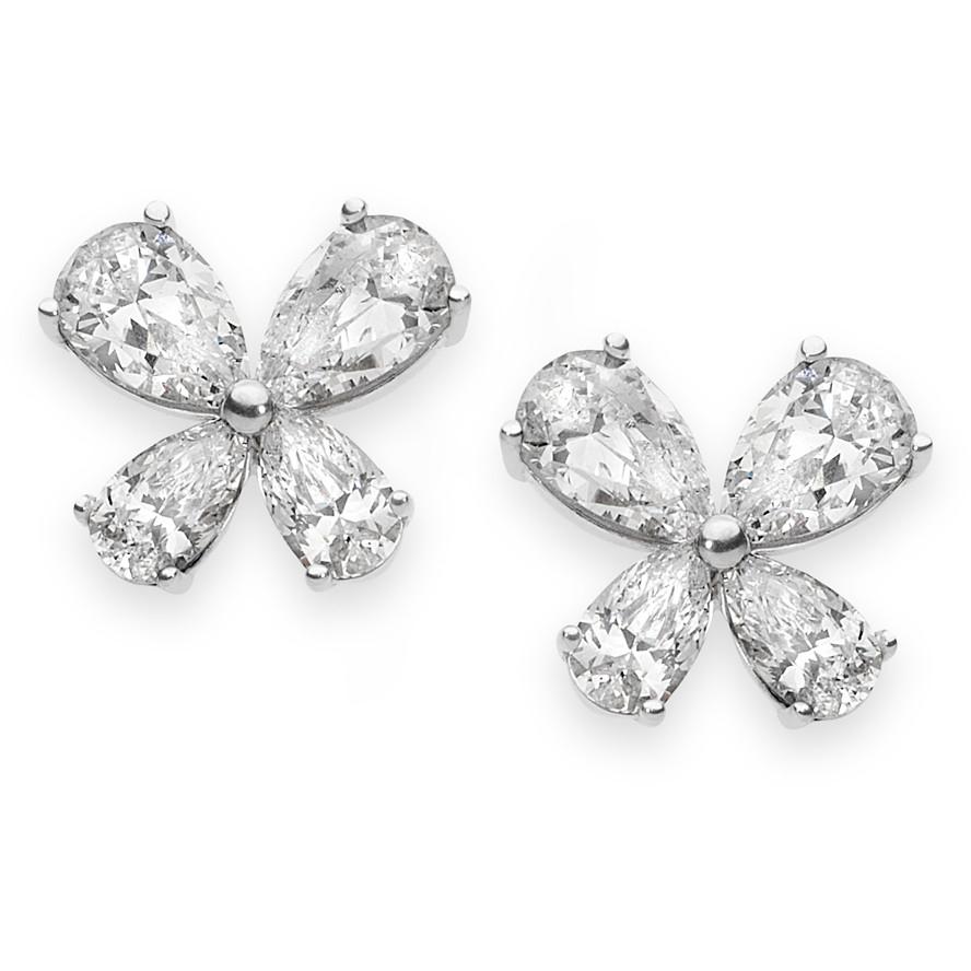 Comete Orecchini Farfalle - Farfalle con Zirconi -