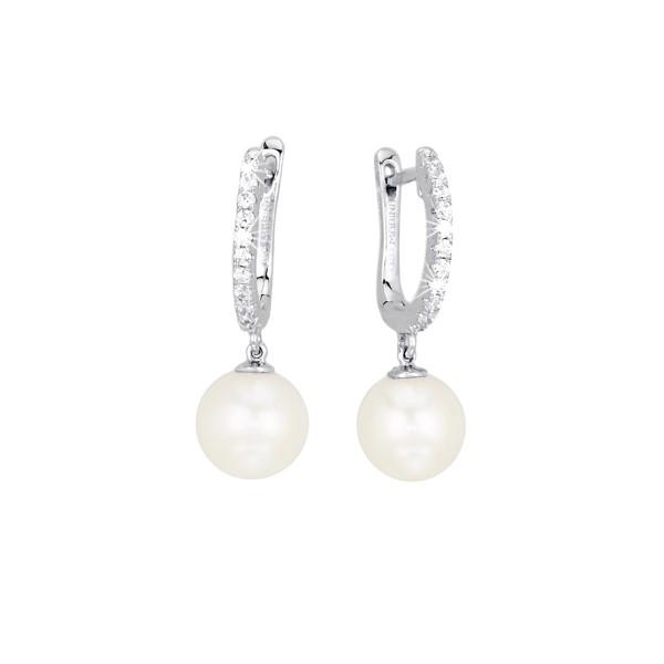 Mabina Orecchini Argento - Cerchietti con perle