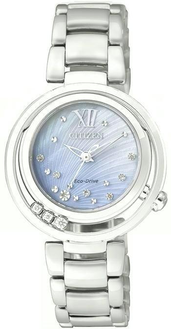 Citizen Lady Diamond (Acciaio, quadrante madreperla, diamanti in libero movimento)
