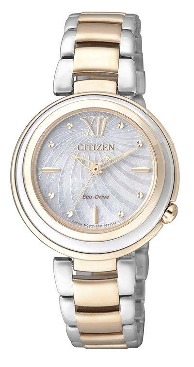 Citizen Lady Eco-Drive (Acciaio I.P oro rosa, quadrante madreperla)