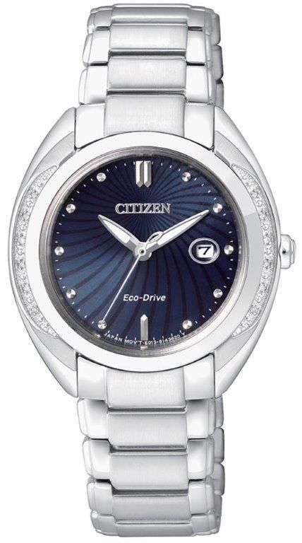 Citizen Lady Diamond (Acciaio, quadrante blu 12 diamanti)