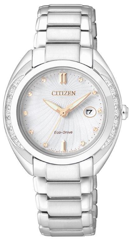Citizen Lady Diamond (Acciaio, quadrante bianco 12 diamanti)