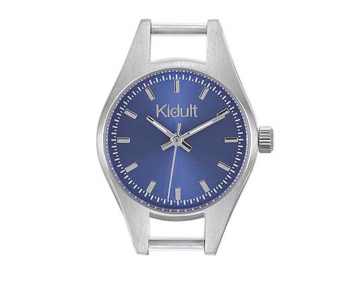 Kidult Orologio, Time Collection (Acciaio, quadrante blu)