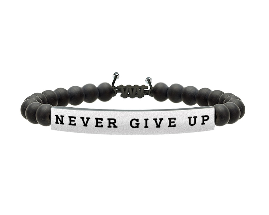 Kidult Bracciale Uomo Philosophy, Life (Never give up)
