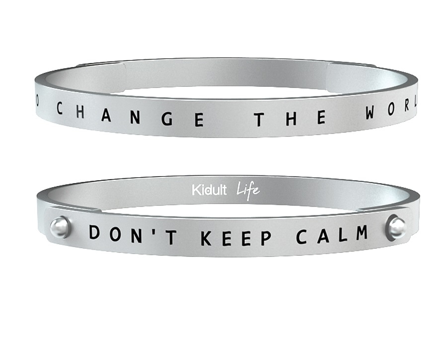 Kidult Bracciale Uomo Philosophy, Life (Don't Keep Calm)