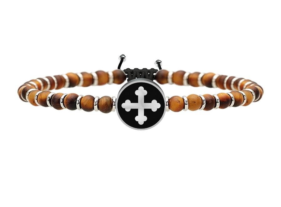 Kidult Bracciale Spirituality, Life (Croce di San Michele | Arcangelo guerriero)