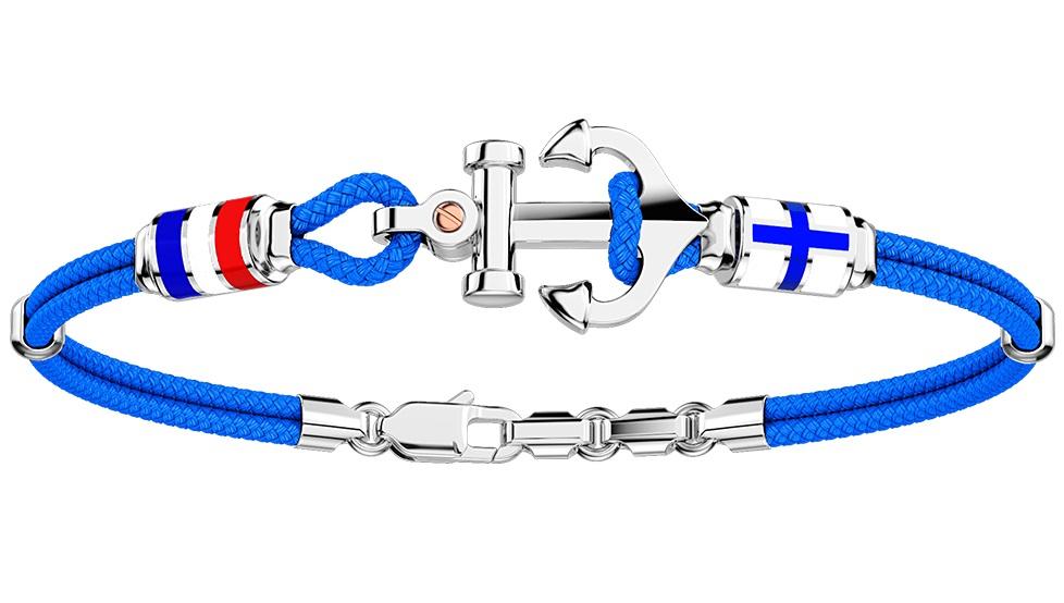 Zancan Bracciale Regata (Ancora e Bandiere nautiche, Azzurro)