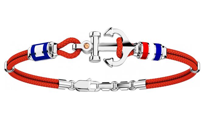 Zancan Bracciale Regata (Ancora e Bandiere nautiche, Rosso)