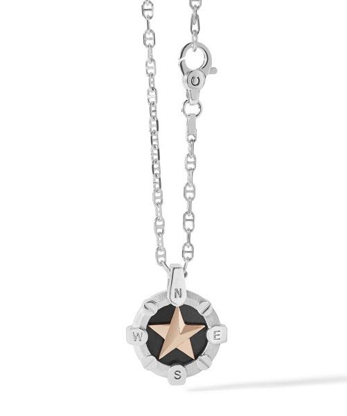 Comete Collana Stella Polare - Argento lucido, satinato e brunito -