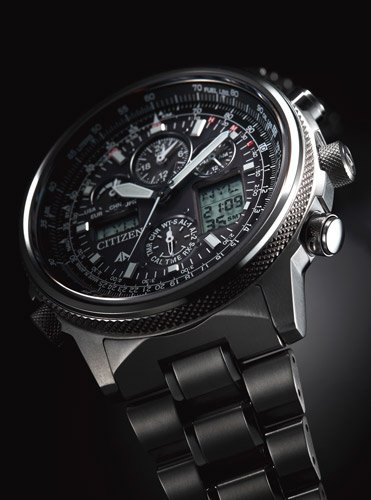 Citizen Super Pilot Quadrante nero