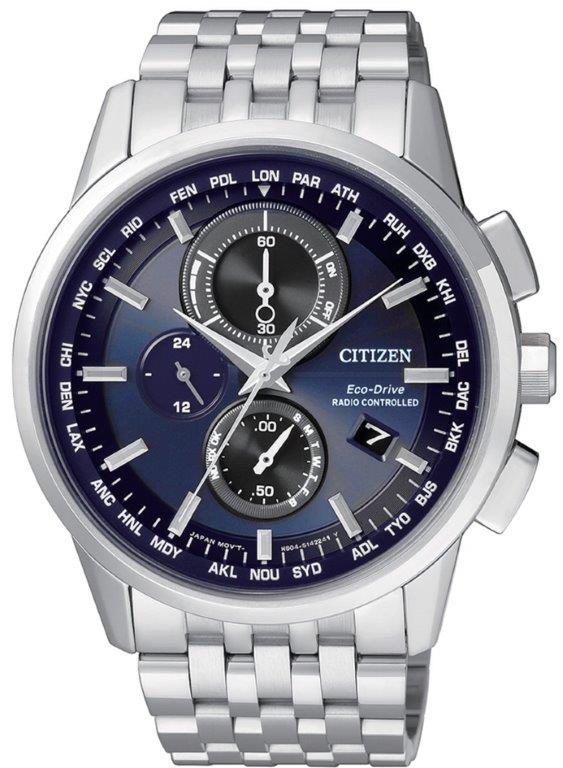 Citizen H804 Quadrante blu, bracciale acciaio