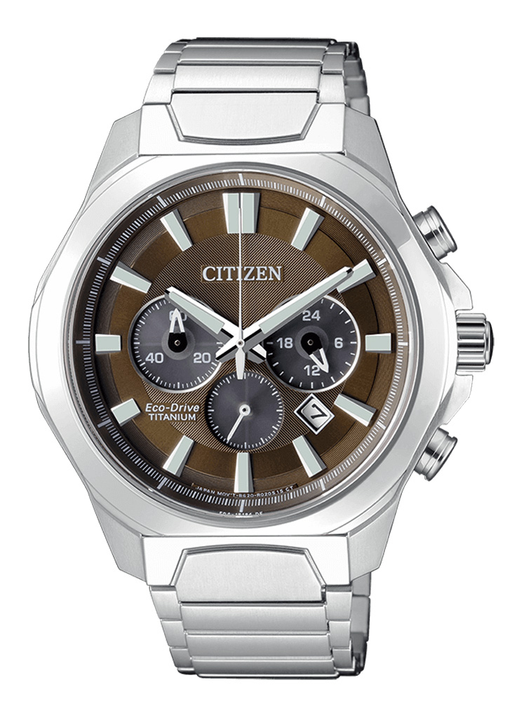 Citizen Crono Super Titanio 4320 Quadrante marrone