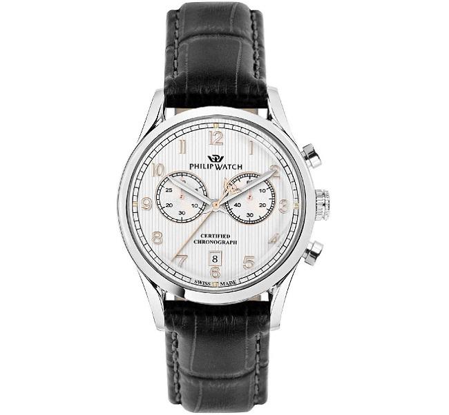 Philip Watch Sunray (Crono al Quarzo, quadrante silver)
