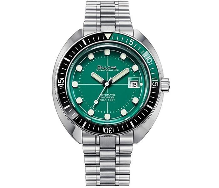 Bulova orologio Oceanographer, meccanico 44 mm. (Lunetta nero-verde)