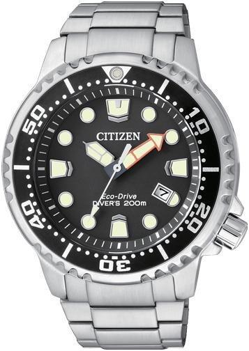 Citizen Diver's 200 Mt. (Quadrante nero, bracciale acciaio)