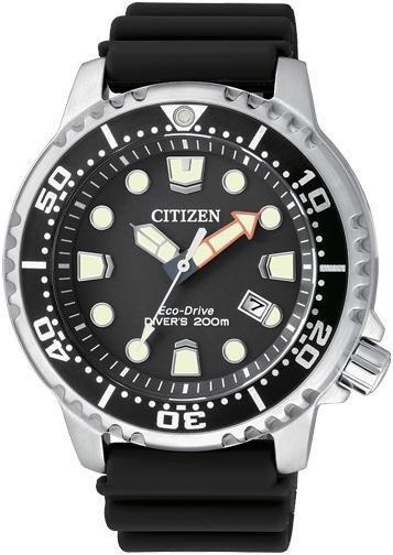 Citizen Diver's 200 Mt. (Quadrante nero, cinturino gomma)