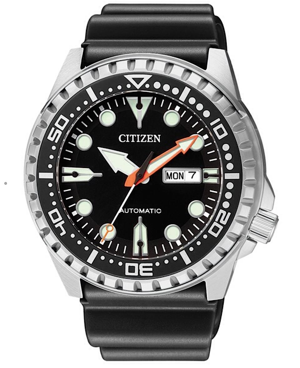Citizen Marine Sport (Cassa acciaio, cinturino P.U., quadrante nero)