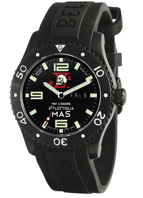 Memphis Belle SKY TIME 42.5 DAY DATE X° MAS -Pvd nero, Per l'onore-