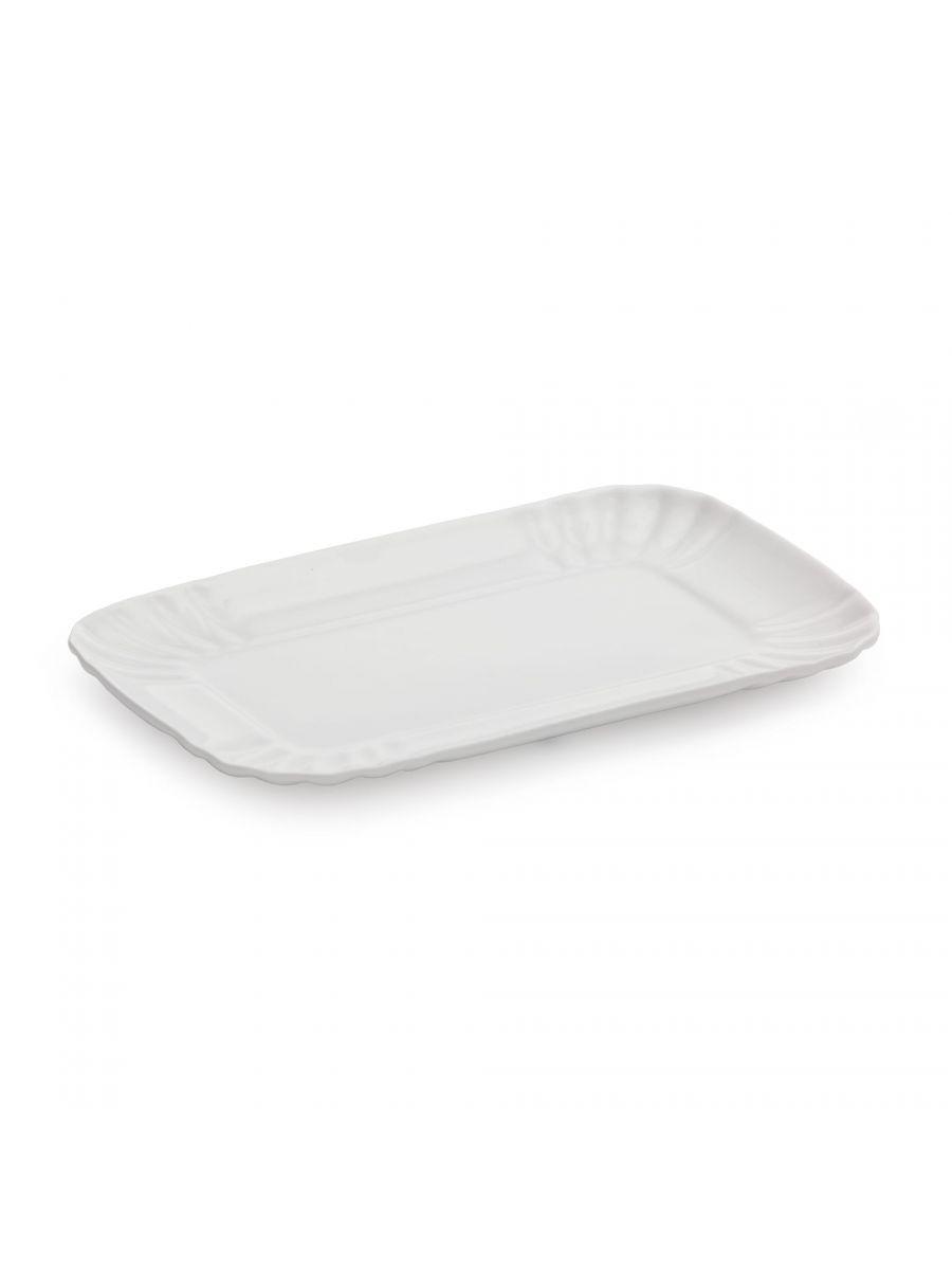 Vassoio in porcellana bianca 13x20 di Seletti