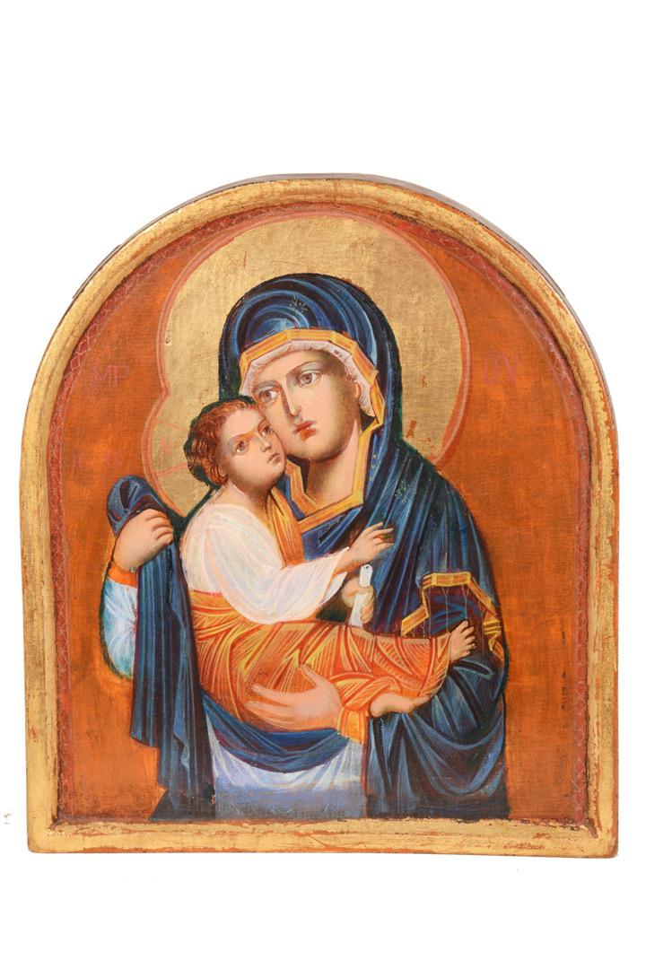 Icona Madonna con Bambino cm 30x26